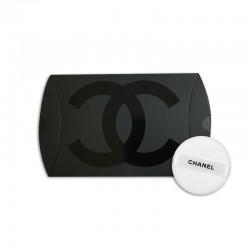 CHANEL 圓形粉撲 直徑3CM (白色黑字)