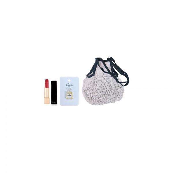 CHANEL N°5 3件SET (LIP+香水+網織袋)