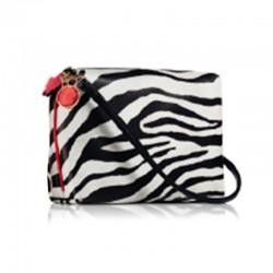 Estee Lauder zebra crossbody pouch