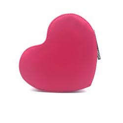 LANCOME 桃紅色心型化妝袋