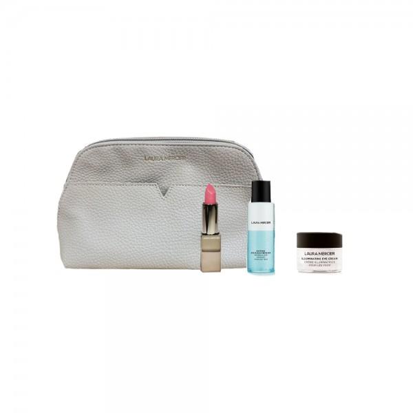 LAURA MERCIER 灰色化妝袋連 3件DLX套裝
