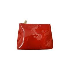 YSL 紅色漆皮化妝袋