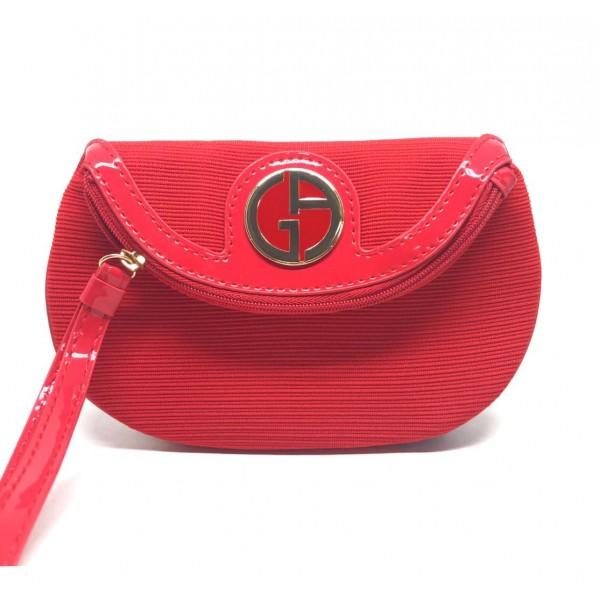 ARMANI 金扣珍藏化裝袋 (紅色)