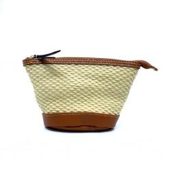 ESTEE LAUDER 化妝袋 (啡色草織)